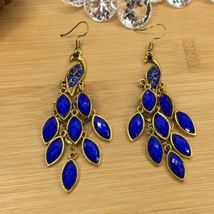 Jewelry - Blue Peacock Earrings